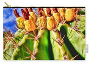 Blooming Barrel Cactus By Diana Sainz Carry-all Pouch