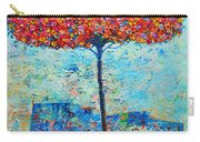 Blooming Beyond Known Skies - The Tree Of Life - Abstract Contemporary Original Oil Painting Carry-all Pouch by Ana Maria Edulescu