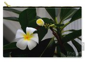 Blooming Frangipani Flower Alongside Bud Carry-all Pouch