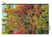 Blooming Pink Hawthorn Tree Crataegus Art Prints Carry-all Pouch