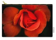 Blooming Red Rose Carry-all Pouch