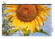 Blooming Sunflower V2 Carry-all Pouch by Adrian Evans
