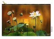 Blooming White Lotus Flower Carry-all Pouch