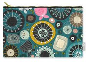 Blooms Teal Carry-all Pouch