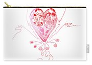 Blossoming Love Pink And Red Valentine Carry-all Pouch