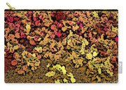 Blossoms And Tree In Yellow And Red Carry-all Pouch