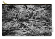 Blow Down Glacier National Park Bw Carry-all Pouch