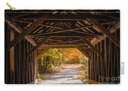 Blow-me-down Covered Bridge Cornish New Hampshire Carry-all Pouch by Edward Fielding