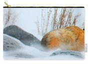 Blowing Snow And Rocks Carry-all Pouch