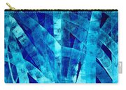 Blue Abstract Art - Paths - By Sharon Cummings Carry-all Pouch