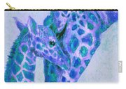 Blue And Aqua Giraffes Carry-all Pouch