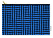 Blue And Black Checkered Pattern Cloth Background Carry-all Pouch