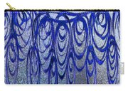 Blue And Black Swirl Abstract Carry-all Pouch