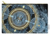 Blue And Gold Mechanical Abstract Carry-all Pouch