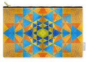 Blue And Gold Yantra Meditation Mandala Carry-all Pouch