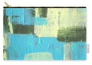 Blue And Green Abstract Carry-all Pouch