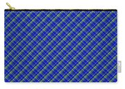 Blue And Green Diagonal Plaid Pattern Cloth Background Carry-all Pouch