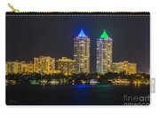 Blue And Green Diamond Twin Towers Carry-all Pouch