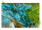 Blue And Green Glass Abstract Carry-all Pouch
