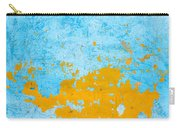 Blue And Orange Wall Texture Carry-all Pouch