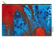 Blue And Red Abstract 3 Carry-all Pouch by Sharon Cummings