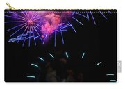 Blue And Red Firework Disks Carry-all Pouch