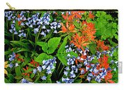 Blue And Red Flowers In Kuekenhof Flower Park-netherlands Carry-all Pouch