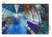 Blue And Rust Grunge Tunnel Carry-all Pouch