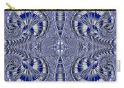 Blue And Silver 2 Carry-all Pouch