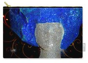 Blue And Silver Girl Carry-all Pouch