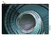 Blue And Silver Spiral Stairs Carry-all Pouch