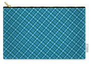 Blue And Teal Diagonal Plaid Pattern Textile Background Carry-all Pouch