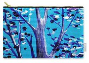 Blue And White Carry-all Pouch