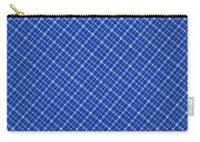 Blue And White Diagonal Plaid Pattern Cloth Background Carry-all Pouch
