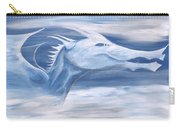 Blue And White Dragon Carry-all Pouch