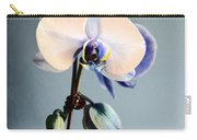 Blue And White Orchids Carry-all Pouch
