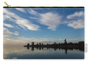 Brushstrokes On The Sky - Blue And White Serenity Carry-all Pouch