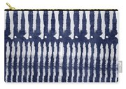 Blue And White Shibori Design Carry-all Pouch
