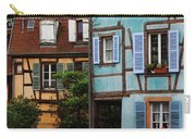 Blue And Yellow Buildings In La Petite Venise In Colmar France Carry-all Pouch