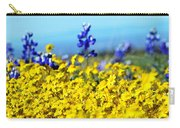 Blue And Yellow Wildflowers Carry-all Pouch