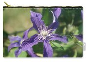 Blue Angel Clematis Close   # Carry-all Pouch