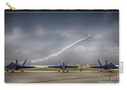 Blue Angels Fa 18 With Grumman Biplane Carry-all Pouch