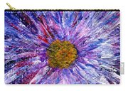 Blue Aster Miniature Painting Carry-all Pouch