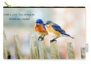 Blue Bird Love Notes Carry-all Pouch by Scott Pellegrin