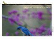 Blue Bird Praying Carry-all Pouch