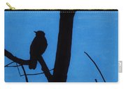 Blue - Silhouette - Bird Carry-all Pouch
