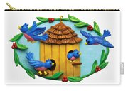 Blue Birds Fly Home Carry-all Pouch by Amy Vangsgard