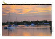 Blue Boats At Sunset Carry-all Pouch
