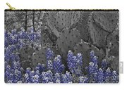Blue Bonnet Cactus Carry-all Pouch
