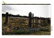 Blue Bonnet Fence V4 Carry-all Pouch